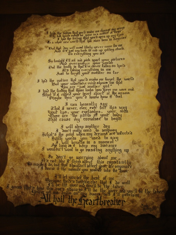 All Hail the Heartbreaker lyrics, The Spill Canvas lyrics, The Spill Canvas
