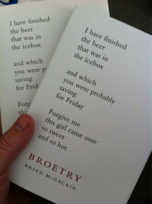 Broetry by Brian McGackin