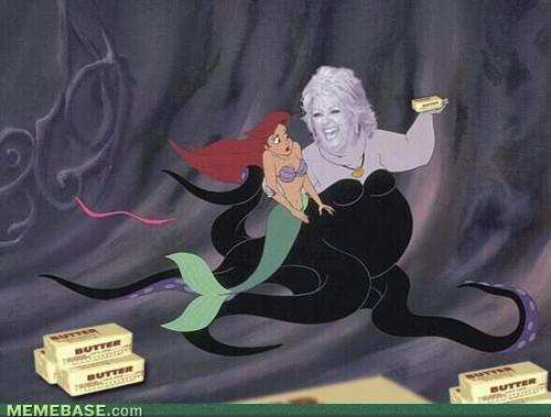 Paula Deen Ursula, Paula Deen looks like Ursula
