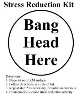 stress reduction kit, bang head here