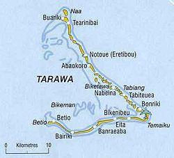 atoll Tarawa map