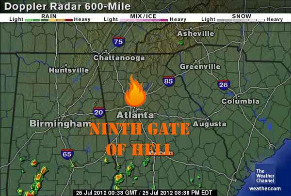 Atlanta heat wave, Hotlanta, atlanta weather map