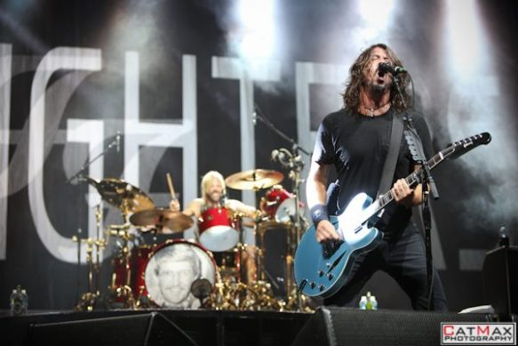 dave grohl, taylor hawkins, foo fighters, music midtown 2012, atlanta