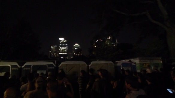 porta potties music midtown, atlanta skyline