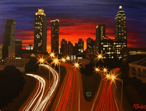 """Atlanta"" Acrylic, 18x24 in."