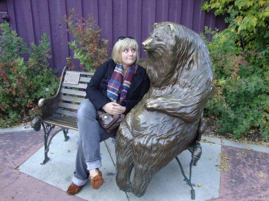 park city bear bench, park city utah