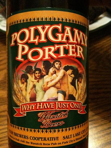 wasatch brewery polygamy porter, park city ut