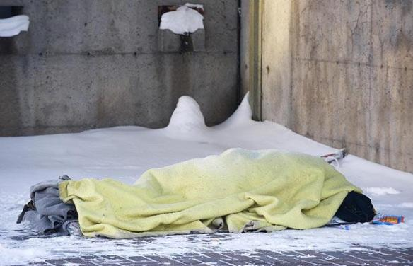 snow-homeless