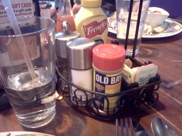 Only in Maryland would a brunch restaurant have Old Bay on the table.