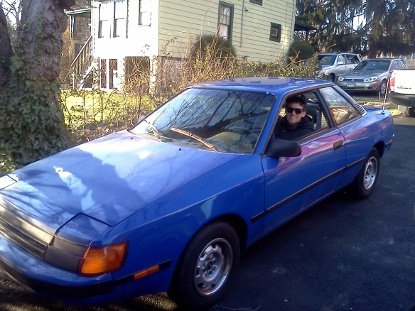 Headin' to the 1986 Toyota Celica in the sky.