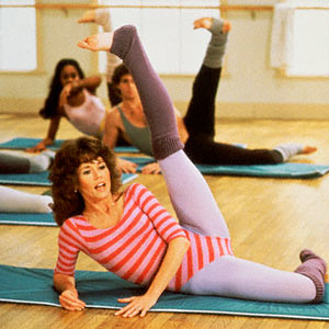 jane fonda, jane fonda 80s workout video