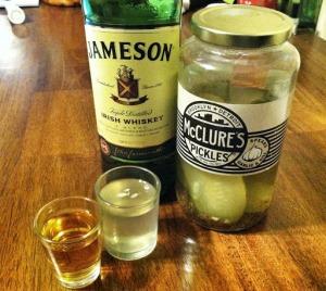 pickleback, picklebacks, pickleback shot, Jameson, whiskey shot