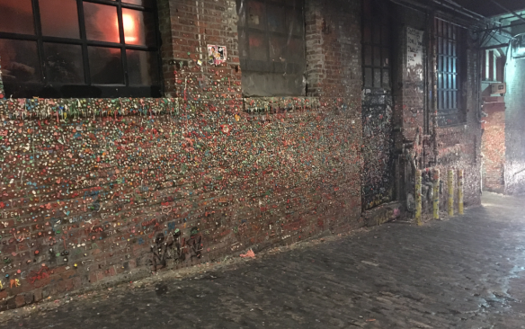 seattle gum wall, post alley gum wall, gum wall
