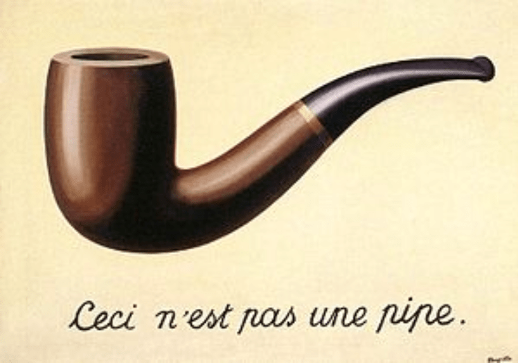 surrealist painting, magritte, rene magritte, this is not a pipe