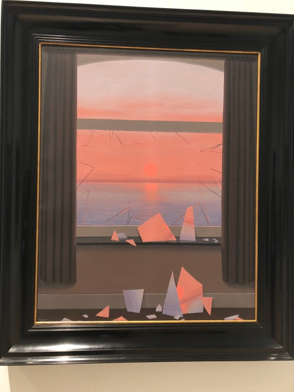 magritte broken window painting