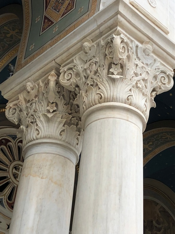 ornate greek columns, greek architecture, marble