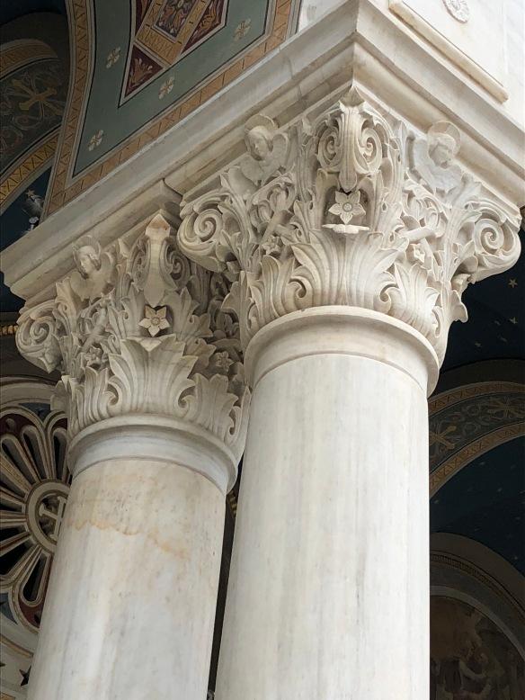 ornate greek columns, greek architecture, marble
