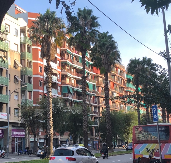 barcelona city street, barcelona street view