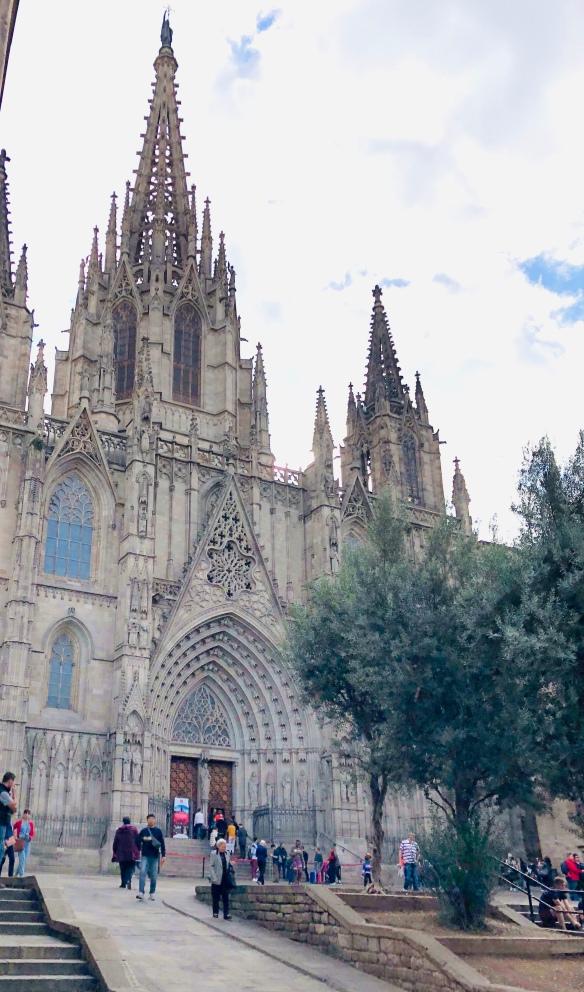 barcelona cathedral, barcelona spain, spain, barcelona